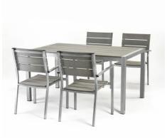 Set Tavolo e sedie per Hotel giardino bar ristorante in polywood
