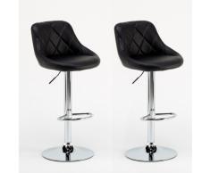 Sgabelli Coppia nero similpelle modello bar soggiorno girevole como...