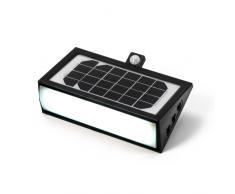 Faretto lampada muro luce solare giardino esterno sensore movimento...