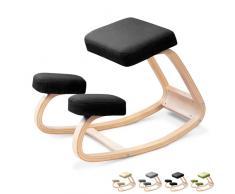 Sedia sgabello posturale ergonomica svedese ginocchia ufficio legno...