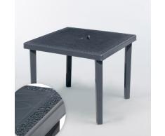 Tavolo bar Polyrattan quadrato 90x90 Grand Soleil GRUVYER