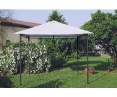Gazebo 3x3 metri giardino acciaio antivento STYLE