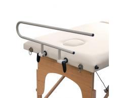 Supporto portarotolo in alluminio per lettini da massaggio