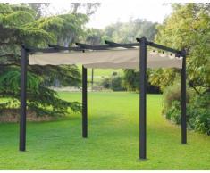 Gazebo quadrato 3x3 metri giardino alluminio bar hotel ristorante F...