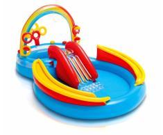 Piscina gonfiabile bambini Intex 57453 Arcobaleno Rainbow Ring gioco