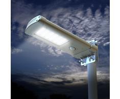 Lampione stradale solare giardino esterni 24 Super led