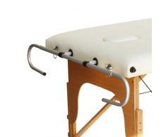 Supporto portarotolo in alluminio regolabile per lettini da massaggio
