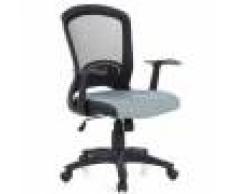 Hjh Sedia per ufficio FLIER, design esclusivo ad un prezzo conveniente, con schienale in rete e sedile imbottito, in nero/grigio