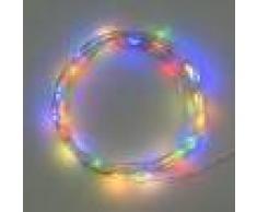 Luci Da Esterno Catena a batteria lunga 4 m con 40 microled luce multicolore