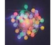 Luci Da Esterno Catena 6 m, 40 minisfere Ø 35 mm, led multicolor, controller 8 giochi