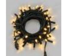 Luci Da Esterno Catena luminosa 60 SuperLED bianco caldo, 10 metri, luce fissa, alimentazione inclusa