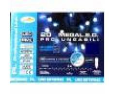 Luci Da Esterno Catena 5 m con 20 Mega LED bicolore Blu & Bianco, prolungabile