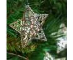 Luci Da Esterno Catena 6,65 m, 20 stelle argento, led bianco freddo