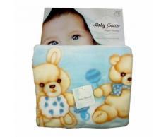 Baby sacco copertina coperta pile culla carrozzina bimba neonato T&R rosa TU