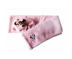 Set 2pz confezione regalo copertina coperta culla carrozzina con dou dou bimba neonato Disney baby Minnie rosa TU
