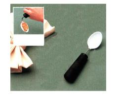 Farmacare Cucchiaio Speciale Pieghevole Rivestito In Plastisol