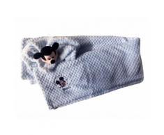 Set 2pz confezione regalo copertina coperta culla carrozzina con dou dou bimbo neonato Disney baby Mickey cielo TU