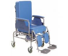 Sedia comoda in acciaio verniciato serie komoda con schienale reclinabile ruote 12,5 cm -