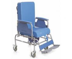 Sedia comoda in acciaio verniciato serie komoda ruote 12,5 cm -