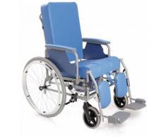 Sedia comoda in acciaio verniciato serie komoda con schienale reclinabile ad autospinta posteriore -