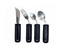 Kit posate modellabile (forchetta, coltello, cucchiaio piccolo e grande) - set 4 pz.