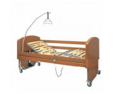 Letto da degenza elettrico con doghe in legno rebecca -