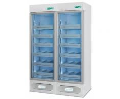 Frigorifero professionale medika 2t800 ect-f - 2 temperature - 4 ripiani+8 cassetti