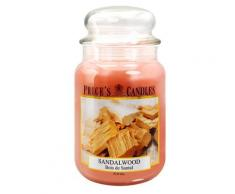 PRICE'S CANDLES Large Sandalwood scented candle in large jar Candela 1059g