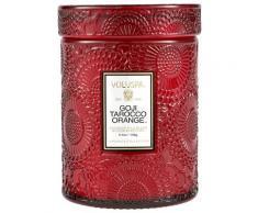 Voluspa Glass Goji Tarocco Orange Petite Jar Candle Candela 91g