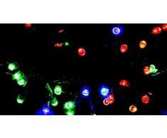 60 led multicolor luce fissa
