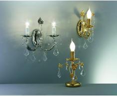 lampada tavolo con cristalli