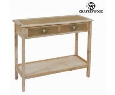 Bigbuy Consola Dos Cajones Country - Coleccion Far West By Craften Wood 46 Kg