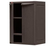 Keter Mini Rattan Storage Cabinet