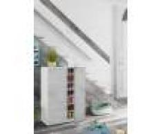 Caesaroo Scarpiera 103 cm bianco opaco e cemento con 2 ante Cemento/Bianco