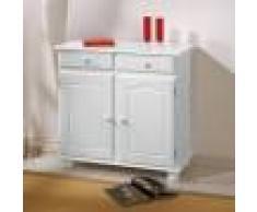 Kit Buffet 2a+2c Classico In Legno Massello Colore Bianco Cod: 93460