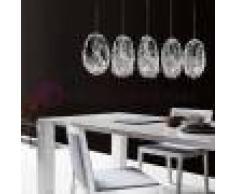 Bellart Snc Genesi Lampada A Sospensione 5 Luci In Vetro Di Murano Design Moderno
