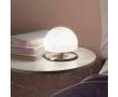 Fabas Luce Morgana Lampada Da Comodino Moderna In Vetro Soffiato Bianco