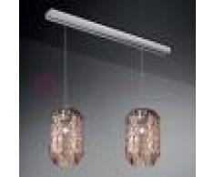 Due P Illuminazione Prysma Lampada A Sospensione Moderna 2 Luci In Vetro Soffiato