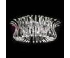 Metal Lux Light snc Wave Plafoniera A Soffitto Cromo D50 O D65 Vetri Cristallo Design