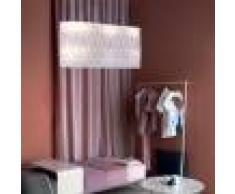 Linea Zero Illuminazione Amanda Sospensione Design Moderno Paralume Ovale L.90 Cm