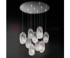 Bellart Snc Genesi Lampada A Sospensione 9 Luci In Vetro Di Murano Design Moderno