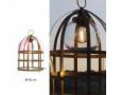 Febo Light Titty Out Lampada Da Terra A Gabbia D.45 Lampada Rustica Da Esterno In Ottone Anticato