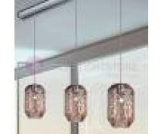 Due P Illuminazione Prysma Lampada A Sospensione Moderna 3 Luci In Vetro Soffiato