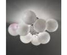 Metal Lux Light snc Atom Plafoniera Moderna Cromo Design 4 Luci A Sfera In Cristallo