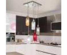 Due P Illuminazione Bottiglia Lampada A Sospensione In Vetro Soffiato 5 Luci Design Moderno
