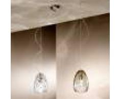 Due P Illuminazione Kiara Lampada A Sospensione A 2 Luci In Vetro Soffiato Design Moderno D. 13 Cm