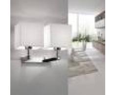 Antealuce Thor Applique Design Moderno Con Doppio Paralume Quadrato Bianco