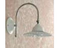 Iris Luce Bianca Applique Snodo Orientabile Ceramica Bianca Bagno