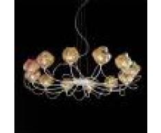 Bellart Snc Gomitoli Lampada A Sospensione 12 Luci Design Con Vetri Soffiati