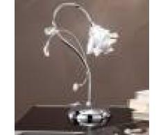 Due P Illuminazione Dafne Lumetto Lampada Da Comodino Cromo O Oro Design Moderno